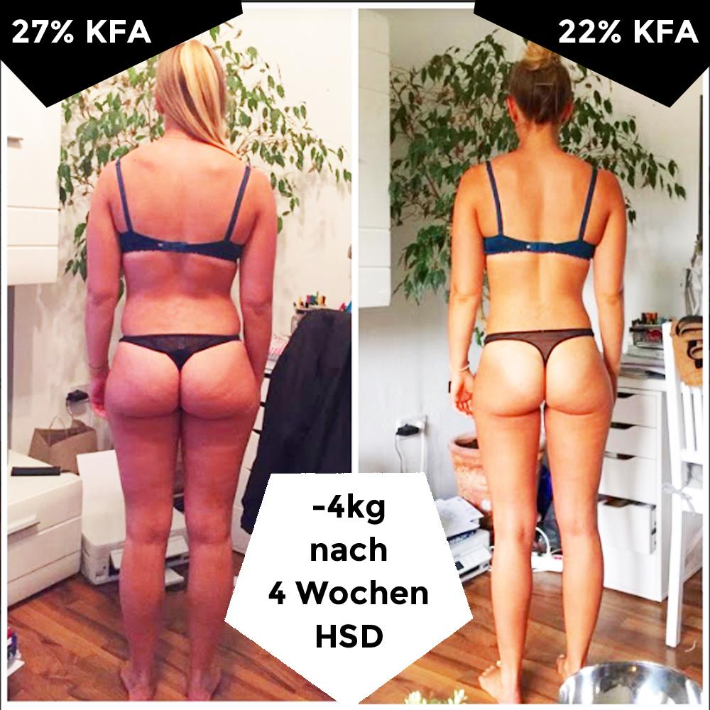 Routine und Diät, um den Körper zu straffen